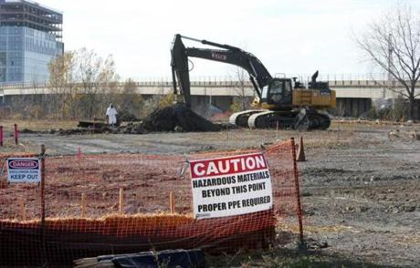 Preliminary work has begun at the planned site of the Wynn casino in Everett.